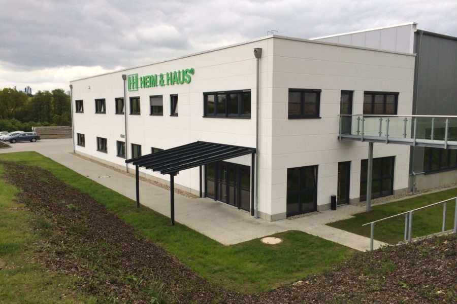 Neubau einer Gewerbehalle mit Verwaltung HH